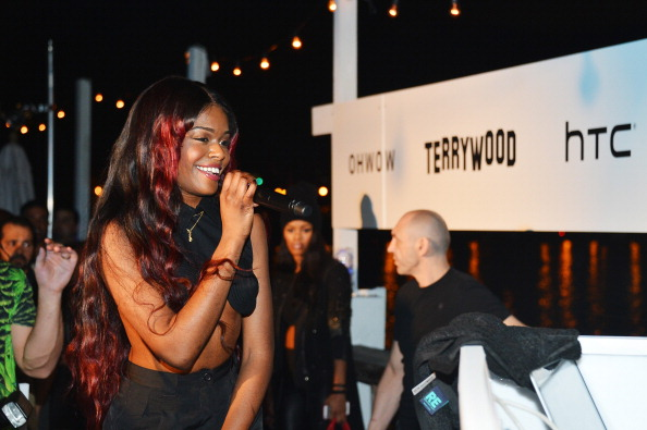 """Azealia Banks attends the OHWOW & HTC celebration of the release of """"TERRYWOOD"""" with Terry Richardson at The Standard Hotel & Spa on December 7, 2012 in Miami Beach, Florida.  (Photo by Frazer Harrison/Getty Images for HTC)"""