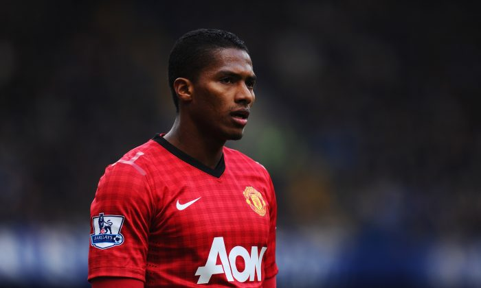 Antonio Valencia of Manchester United looks on during the FA Cup with Budweiser Sixth Round Replay match between Chelsea and Manchester United at Stamford Bridge on April 1, 2013 in London, England. (Photo by Mike Hewitt/Getty Images)
