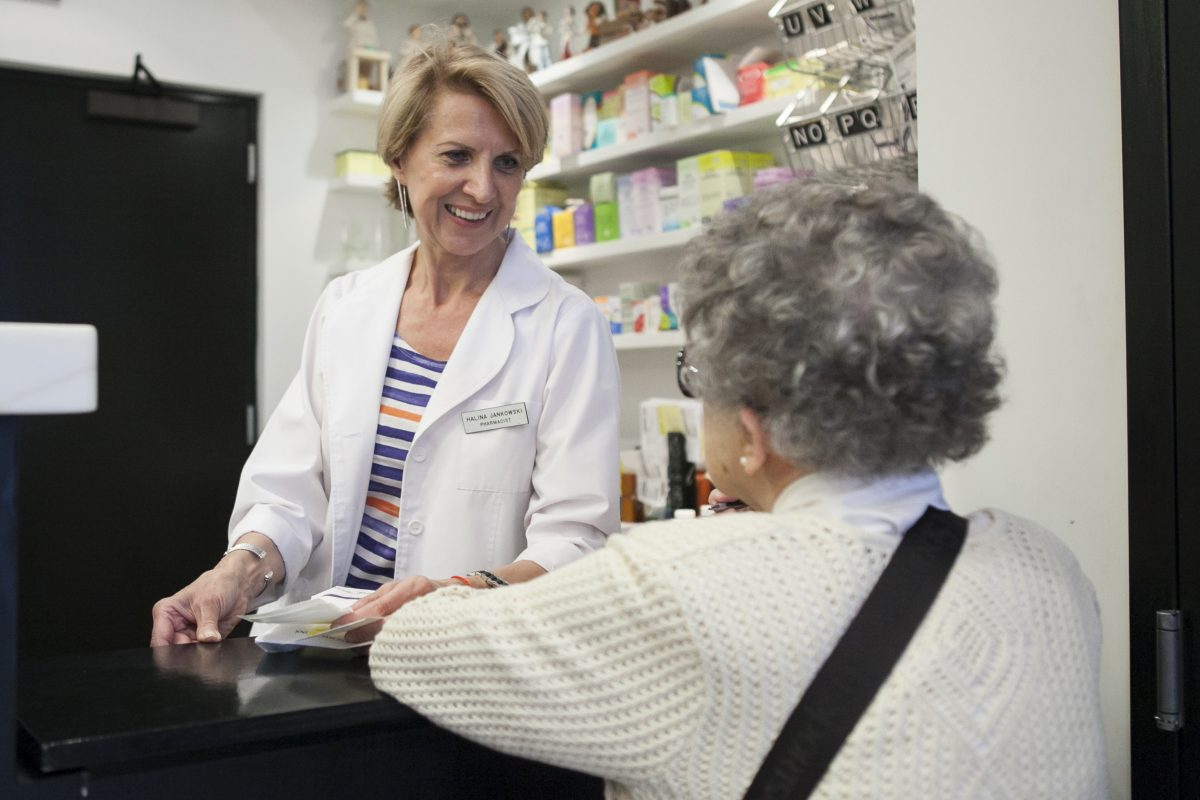 Pharmacist Halina Jankowski at the Northside Pharmacy in Brooklyn, New York, June 18, 2014. (Samira Bouaou/Epoch Times)
