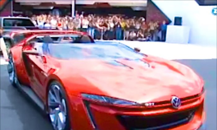 A Dream come true, Volkswagen presented the first ever Volkswagen GTI Roadster at a GTI-Meetup in Austria´s pittoresque city of Reifnitz on Lake Woerthersee. The car was first seen in the Video Game 'Gran Turismo 6'. (AOL)