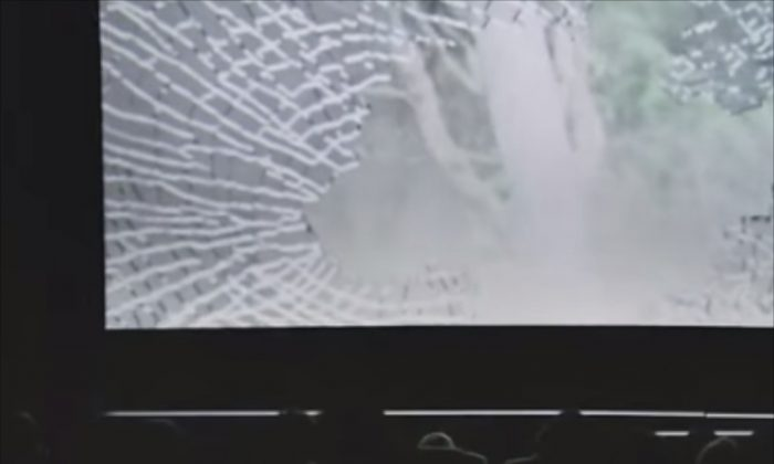 The Volkswagen Ad 'Eyes On The Road' went viral - it shows how cinemagoers in Hongkong were made aware of the dangers of using mobile devices while driving in a very drastic way. (Screenshot Youtube)