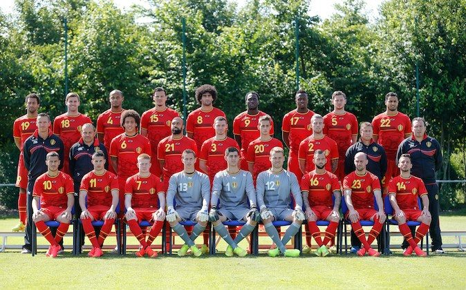 The Belgium 23-man squad. (BRUNO FAHY/AFP/Getty Images)