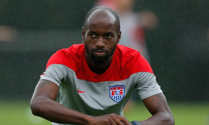 DaMarcus Beasley of the United States works during their training session at Sao Paulo FC on June 10, 2014 in Sao Paulo, Brazil. (Photo by Kevin C. Cox/Getty Images)
