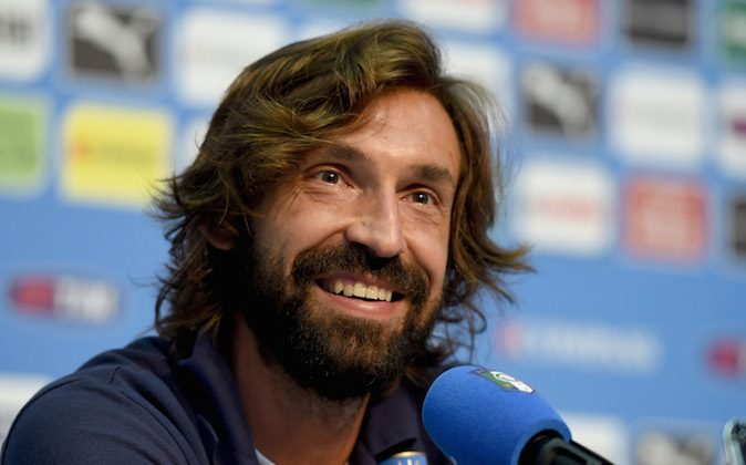 Andrea Pirlo of Italy faces the media during press conference on June 11, 2014 in Rio de Janeiro, Brazil. (Claudio Villa/Getty Images)