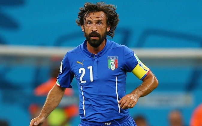 Andrea Pirlo of Italy controls the ball during the 2014 FIFA World Cup Brazil Group D match between England and Italy at Arena Amazonia on June 14, 2014 in Manaus, Brazil. (Elsa/Getty Images)