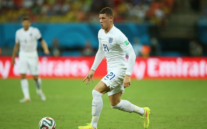Ross Barkley of England controls the ball during the 2014 FIFA World Cup Brazil Group D match between England and Italy at Arena Amazonia on June 14, 2014 in Manaus, Brazil. (Richard Heathcote/Getty Images)