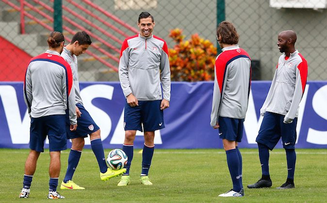 The US Men's National Team works out during training at Sao Paulo FC on June 20, 2014 in Sao Paulo, Brazil. (Kevin C. Cox/Getty Images)