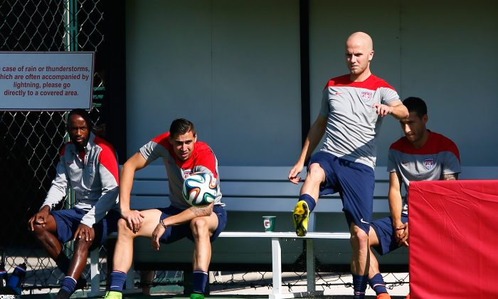 Michael Bradley of the United States works out during training at Sao Paulo FC on June 24, 2014 in Sao Paulo, Brazil. (Kevin C. Cox/Getty Images)