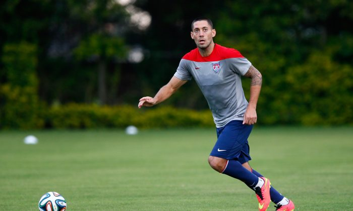 Clint Dempsey of the United States works out during training at Sao Paulo FC on June 28, 2014 in Sao Paulo, Brazil. (Kevin C. Cox/Getty Images)