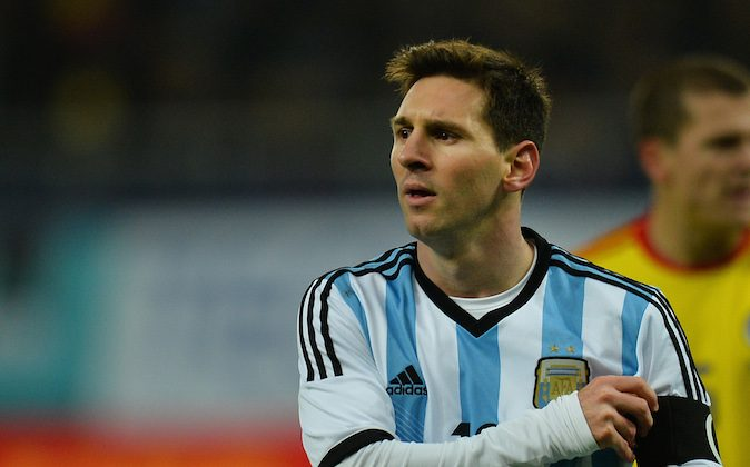 Lionel Messi of Argentina reacts during the International friendly football match Romania vs Argentina in Bucharest, Romania on March 5, 2014. (DANIEL MIHAILESCU/AFP/Getty Images)