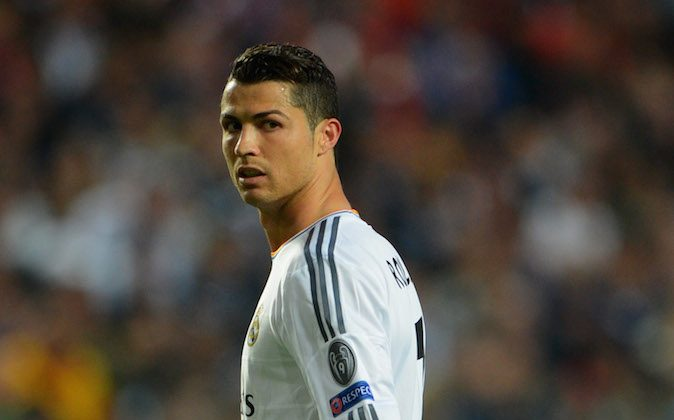 Cristiano Ronaldo of Real Madrid looks on during the UEFA Champions League Final between Real Madrid and Atletico de Madrid at Estadio da Luz on May 24, 2014 in Lisbon, Portugal. (Photo by Michael Regan/Getty Images)