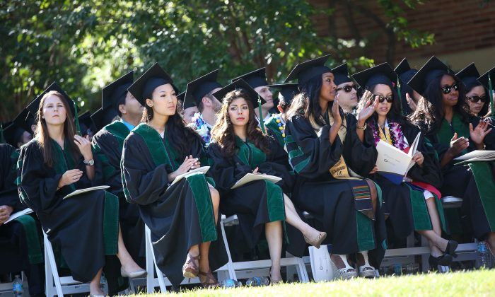 Commencement at UCLA Westwood, Calif., on May 30. (Imeh Akpanudosen/Getty Images for UCLA)