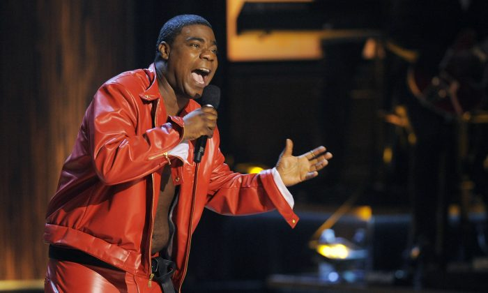 "Comedian Tracy Morgan performs at ""Eddie Murphy: One Night Only,"" on Nov. 3, 2012. (Chris Pizzello/Invision)"