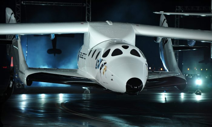 The SpaceShipTwo, the world's first commercial manned spacecraft, at the Mojave Air and Space Port in Mojave, Calif., in 2009. This manned spacecraft will provide researchers with safe and affordable opportunities to deliver research payloads into space.(Robyn Beck/AFP/Getty Images)