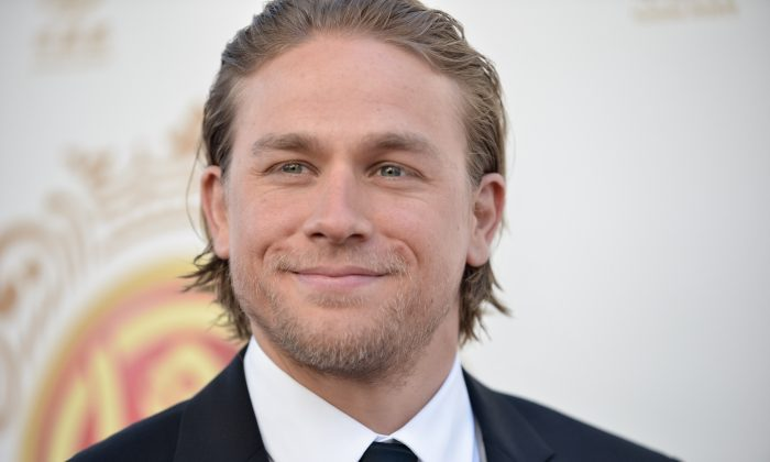 Charlie Hunnam arrives at the Huading Film Awards held at the Ricardo Montalban Theater  on Sunday, June 1, 2014 in Los Angeles. (Richard Shotwell/Invision/AP)