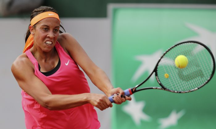 Madison Keys at the French Open earlier this year, will play in the Aegon International final on June 21, 2014. (AP Photo/David Vincent)