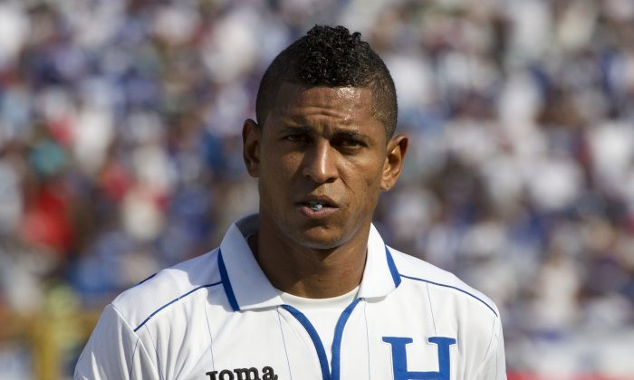 Honduras' Carlo Costly, in a file photo, scored against Ecuador in a World Cup match on Friday, June 20, 2014. (AP Photo/Moises Castillo)