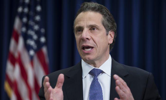 New York State Governor Andrew Cuomo. (AP Photo/John Minchillo)