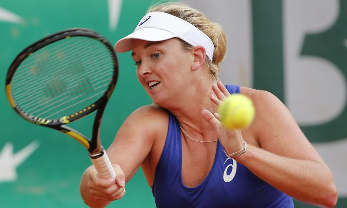 Coco Vandeweghe, in a file photo, plays in the Topshelf Open final on June 21, 2014. (AP Photo/David Vincent)
