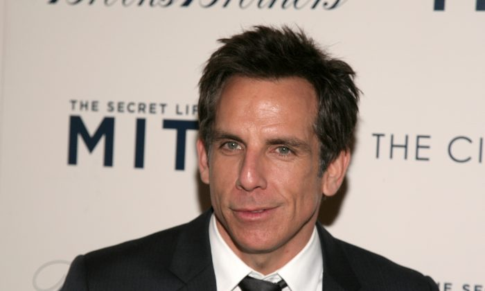 """Actor Ben Stiller attends a screening of """"The Secret Life of Walter Mitty"""" presented by 20th Century Fox with the Cinema Society & Brooks Brothers on Wednesday, Dec. 18, 2013, in New York. (Photo by Andy Kropa/Invision/AP)"""