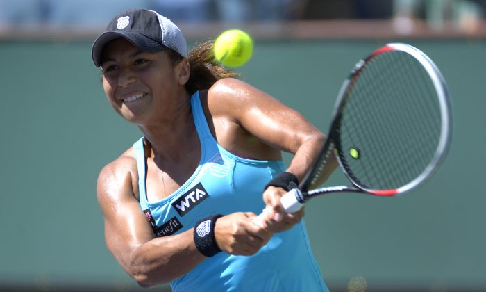 Heather Watson in a file photo. She faces Serena Williams in the next round at Wimbledon. (AP Photo/Mark J. Terrill)