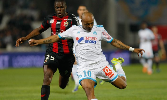 Andre Ayew in a file photo. (AP Photo/Claude Paris)