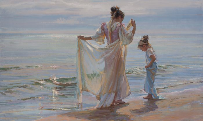 """At Water's Edge,"" oil on canvas, 40 by 60 inches. (Courtesy of Daniel Gerhartz)"