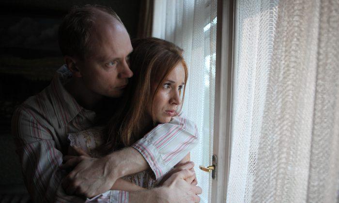"Radim Bures (Jan Budar) and lawyer Dagmar Buresova (Tatiana Pauhofova) in ""Burning Bush,"" a film by Agnieszka Holland. (Kino Lorber, Inc.)"