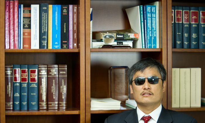 Chen Guangcheng, Chinese human rights activist and target of the notorious 610 Office, in Washington, D.C., April 9, 2013. (Karen Bleier/AFP/Getty Images)
