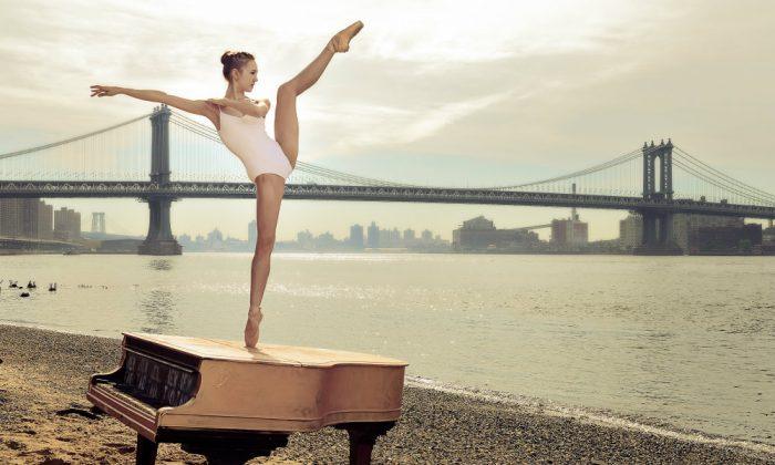 ABT Studio Company ballerina Rachel Richardson underneath the Manhattan Bridge. This image was captured by 41-year-old Luis Pons, a relatively new photographer who picked up the camera at a late age and has gained the trust of many of New York City's most pre-eminent ballet dancers within six months. (Courtesy of Luis Pons)