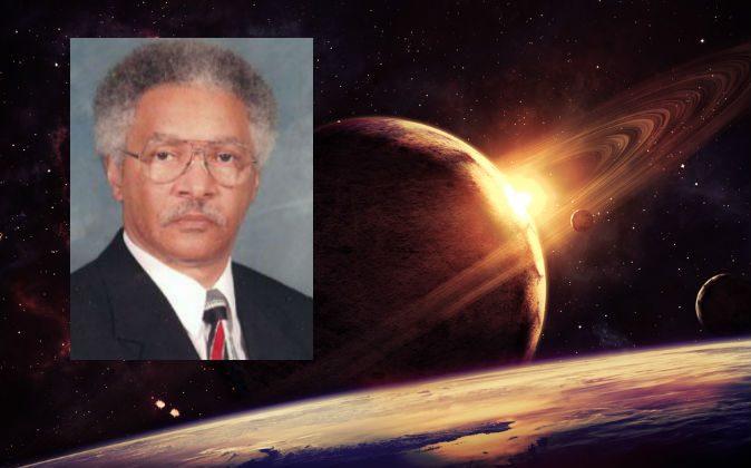 Dr. Edward Dowdye Jr. (Courtesy of Dr. Dowdye); Background image of space via Shutterstock*