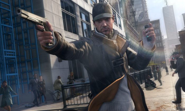 """This photo provided by Ubisoft shows the video game thriller, """"Watch Dogs."""" The open-world game casts players as Aiden Pearce, a tech-savvy vigilante whose most powerful weapon is a smartphone that can tap into the infrastructure of a well-connected, near-future Chicago. (AP Photo/Ubisoft)"""