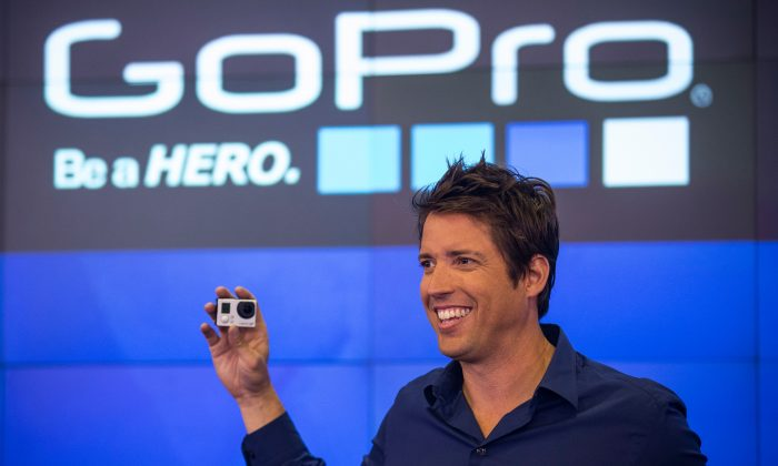 Nick Woodman, founder and CEO of GoPro speaks during the company's initial public offering (IPO) at the Nasdaq Stock Exchange on June 26, 2014 in New York City. (Andrew Burton/Getty Images)