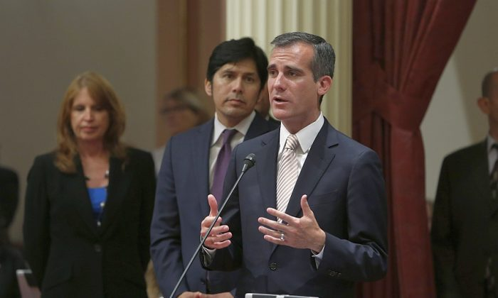 Los Angeles Mayor Eric Garcetti (AP Photo/Rich Pedroncelli)