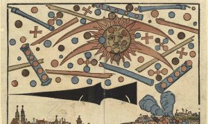 Medieval Woodcut Shows UFO Battle Over Nuremberg Germany, 1561?