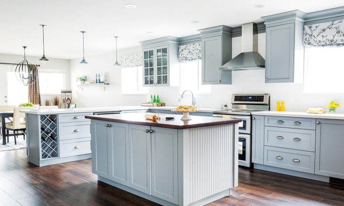 A kitchen renovation in French farmhouse style provides plenty of space for entertaining family and friends.(Tracey Ayton)