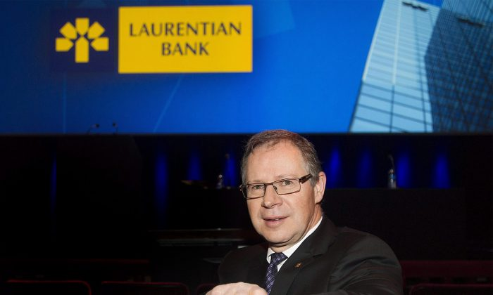 Laurentian Bank president and CEO Réjean Robitaille is shown here prior to the company's annual general meeting in Montreal on April 2, 2014. (The Canadian Press/Graham Hughes)