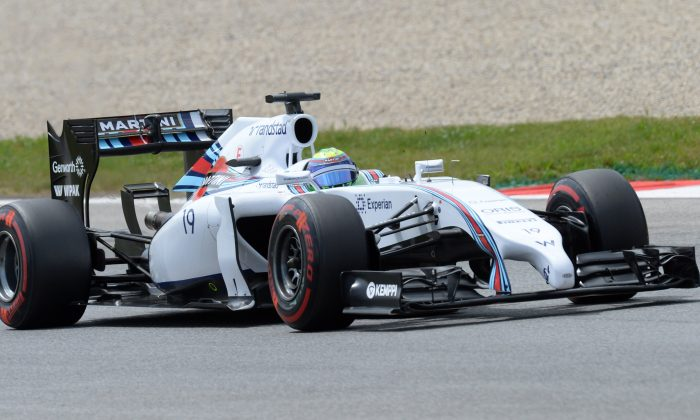 Williams' driver Felipe Massa drives in the qualifying session of the Formula One Austrian Grand Prix at the Red Bull Ring in Spielberg, Austria on June 21, 2014. (Christof Stache/AFP/Getty Images)