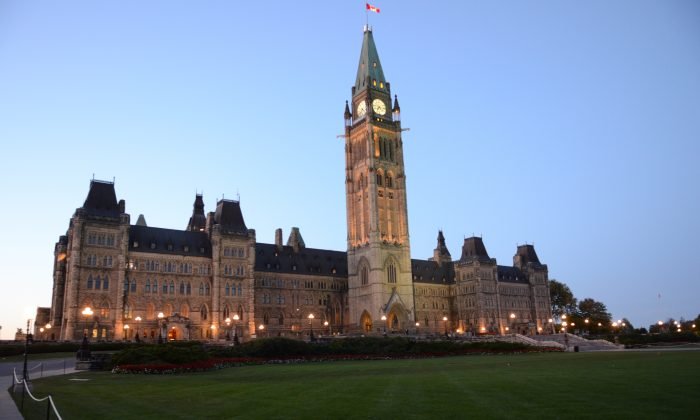 Canada's Parliament in Ottawa. Canada's prostitution laws are being overhauled in Parliament after the Supreme Court ruled last December they were unconstitutional. (Matthew Little/Epoch Times)