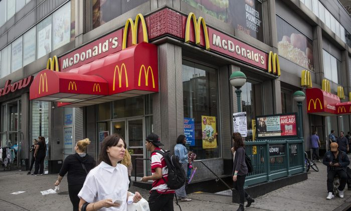 A McDonald's restaurant in New York on June 9, 2014. (Andrew Burton/Getty Images)