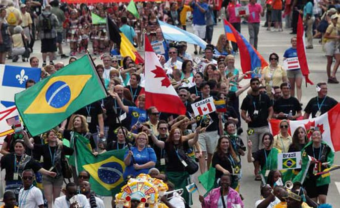 Parade of Nations at World Choir Games. Photo by Ernest Cole (Go World Travel)