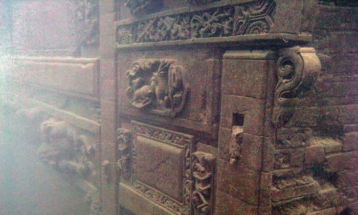 Ancient city of Shi Cheng under Qiandao Lake in Chun'an County, Zhejiang Province in China. (Wikipedia Commons)