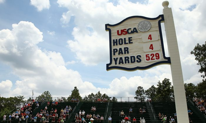 A general view of Pinehurst's fourth hole at prior to the start of the U.S. Open. (Streeter Lecka/Getty Images)