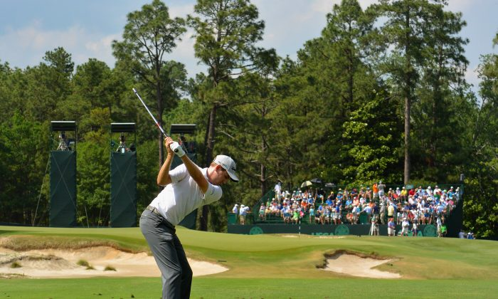 Brendon Todd of the United States hits his tee shot on the ninth hole during the second round of the 114th U.S. Open at Pinehurst Resort & Country Club, Course No. 2 on June 13, 2014 in Pinehurst, North Carolina. (Ross Kinnaird/Getty Images)