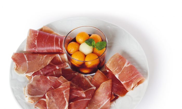 Prosciutto di San Daniele with melon in port. (Courtesy of Principe)