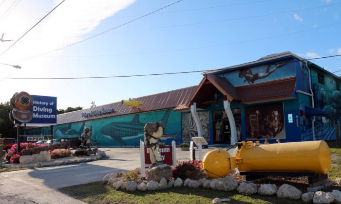 Outside view of the History of Diving Museum. Family fun where visitors can spend a hour or a day.  Sally and her late husband Joe created the museum. (Myriam Moran copyright 2014)