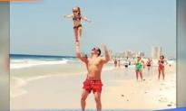 Cheerleading Two-Year-Old Sticks Incredible Stunts (Video)