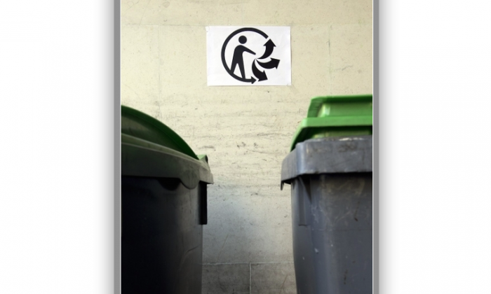 From January 2015 on, most Parisian recyclable products will hold the label «Triman» to increase the awareness of consumers and encourage recycling habits. (Alain Jocard/AFP/Getty Images)