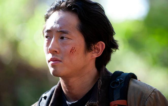 Glenn Rhee (Steven Yeun) in season 4, episode 15 of The Walking Dead. (Gene Page/AMC)