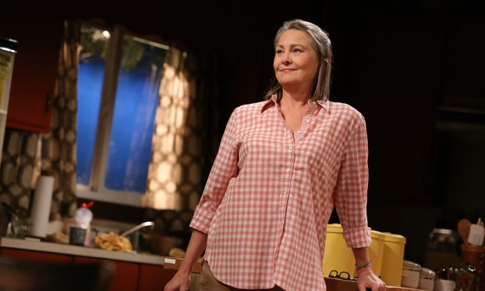 """Cherry Jones as Agnes, a women's shelter provider, in """"When We Were Young and Unafraid."""" (Joan Marcus)"""